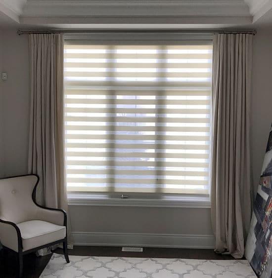 toronto layered shades, toronto window coverings