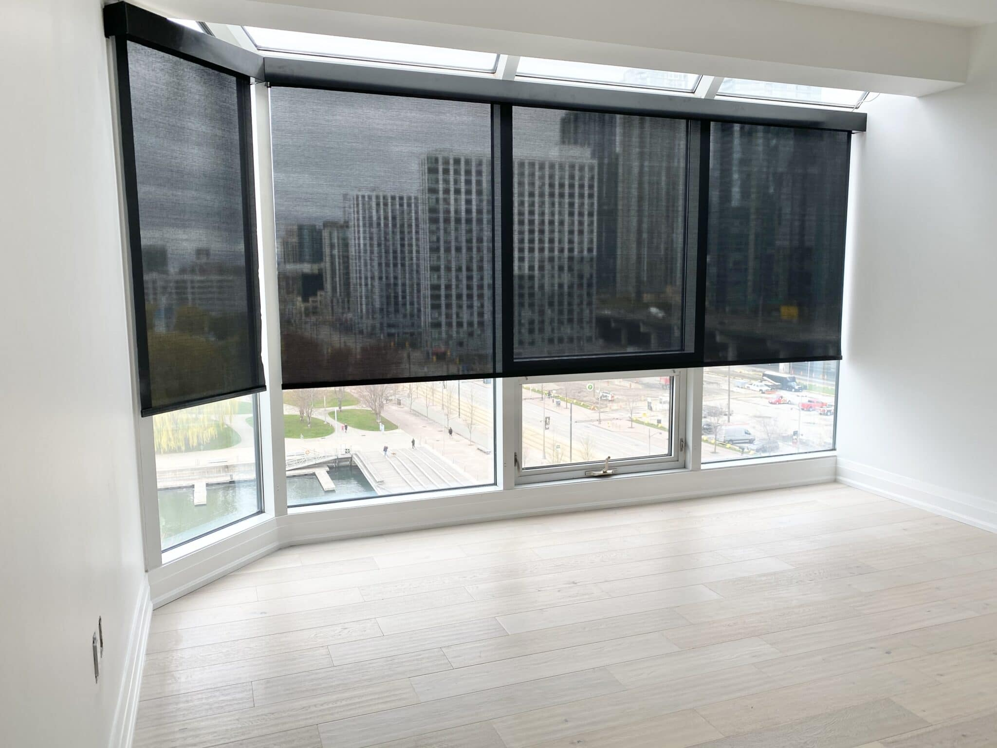 Roller shades motorized toronto by luxury window coverings